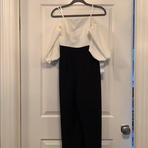 NWT Eliza J black and white jumpsuit